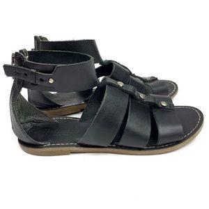 Madewell Roman Gladiator Sandals Black Leather 7